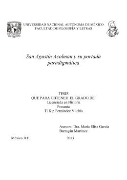 TESIS: San Agustín Acolman y su portada paradigmática