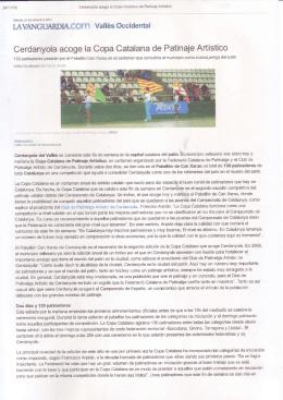 Cerdanyola acoge la Copa Catalana de Patinaje Artístico