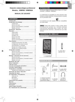 ESTACION METEO PROFESIONAL WMR-86