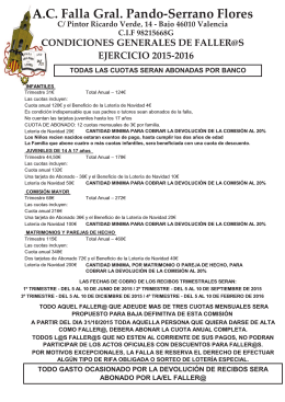 Condiciones 2016 - Falla General Pando Serrano Flores