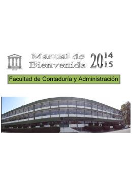 Manual de Bienvenida 2014-2015