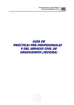 guía de prácticas pre-profesionales y del servicio civil de