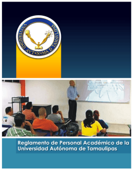 Reglamento personal academico - uacjs
