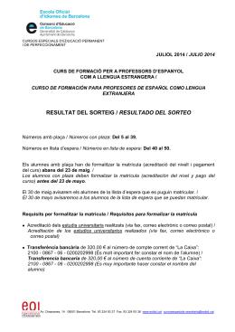 ESCOLA OFICIAL D`IDIOMES BARCELONA