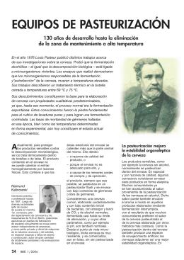EQUIPOS DE PASTEURIZACIÓN - Sachverstand