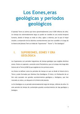 Los Eones,eras geológicas y períodos geológicos