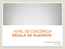 NIVEL DE CONCIENCIA ESCALA DE GLASGOW