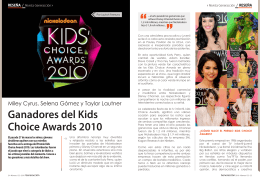 Ganadores del Kids Choice Awards 2010