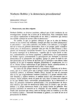 Norberto Bobbio y la Democracia Procedimental - e