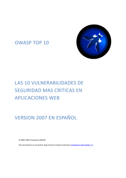 OWASP Top 10 2007 Spanish
