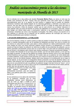 Análisis socioeconómico previo a las elecciones municipales de