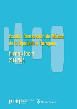 Escola i Conservatori de Música. Curs 2014-2015 - Inici