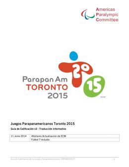 Juegos Parapanamericanos Toronto 2015