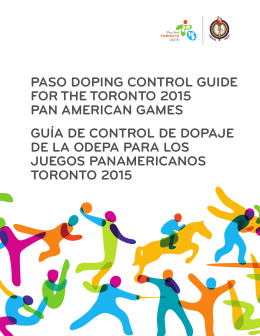 paso doping control guide for the toronto 2015 pan american games