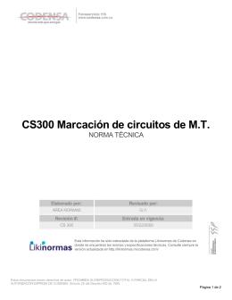 CS300 Marcación de circuitos de M.T.
