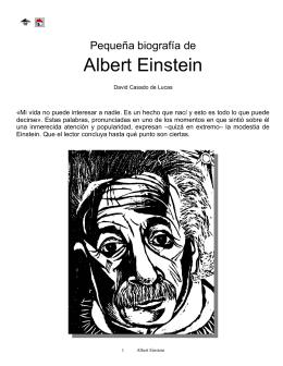 Pequeña biografía de Albert Einstein