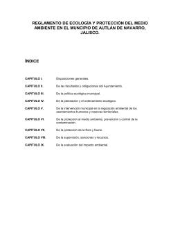 Reglamento de Ecologia y Medio Ambiente