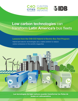 Low carbon technologies can transform Latin America`s bus fleets