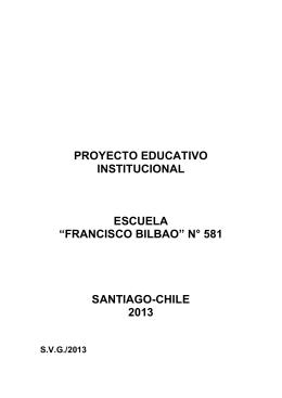 Proyecto Educativo - Escuela Particular Nº 581 Francisco Bilbao