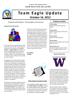 Team Eagle Update October 16, 2012