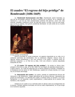 """El cuadro """"El regreso del hijo pródigo"""" de Rembrandt (1606"""
