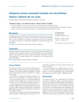 Alopecia areata neonatal tratada con tacrolimus tópico: reporte de