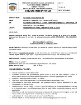 CIUDAD Y FECHA: San José de Cúcuta Julio 15 de