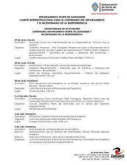 Norte de Santander - Alta Consejería para el Bicentenario de la