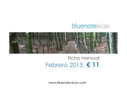 FICHA BLUENOTE SICAV Febrero 2015