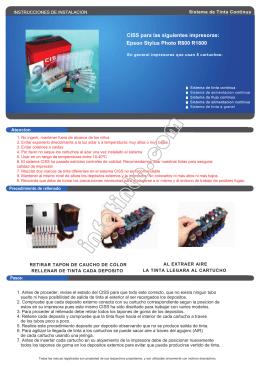 Impresoras que usan los siguientes cartuchos: Epson Stylus R265