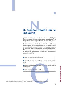 8. Concentración en la industria