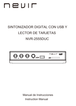 SINTONIZADOR DIGITAL CON USB Y LECTOR DE