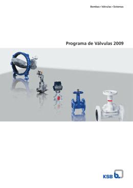 Catálogo de Válvulas