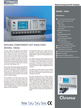 WOUND COMPONENT EST ANALYZER MODEL 19036