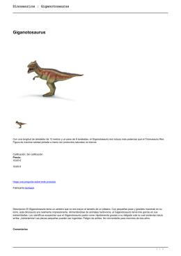 Dinosaurios : Giganotosaurus