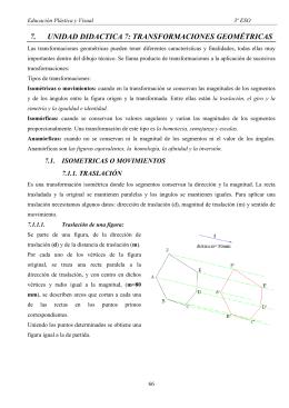 7. UNIDAD DIDACTICA 7: TRANSFORMACIONES GEOMÉTRICAS