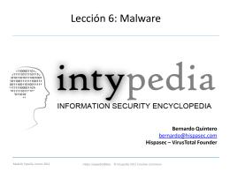 Lección 6: Malware