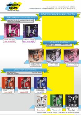 Catálogo de Colonias y Perfumes Grooming Color 2015