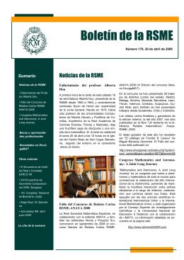 Boletín de la RSME - Real Sociedad Matemática Española