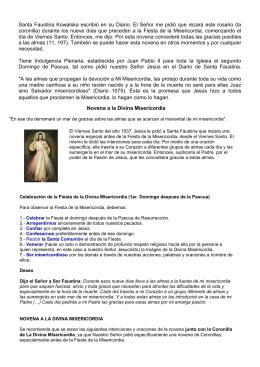 Santa Faustina Kowalska escribió en su Diario: El