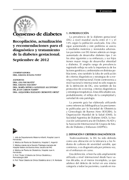 Consenso Diabetes y Embarazo