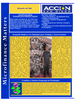 December 2006 Newsletter (Español)