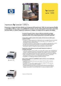 hp LaserJet serie 1300 impresora hp LaserJet 1300/n