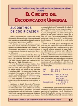 EL CIRCUITO DEL DECODIFICADOR UNIVERSAL