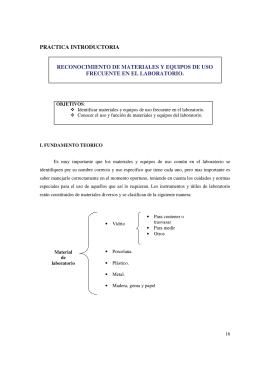practica introductoria reconocimiento de materiales y equipos de