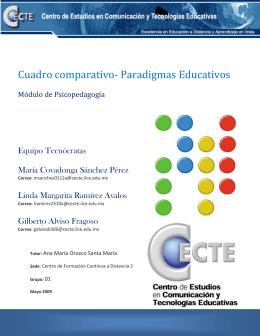Cuadro comparativo- Paradigmas Educativos - etic