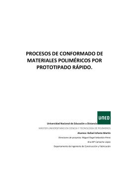 Procesos de conformado de materiales poliméricos por