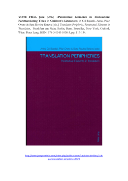 Paratextual Elements in Translation