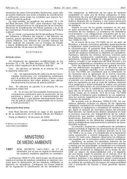 Real Decreto 1481/2001