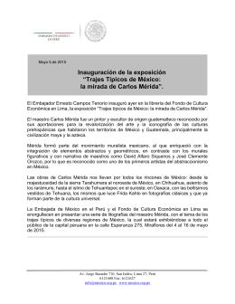 """""""Trajes Típicos de México: la mirada de Carlos Mérida""""."""